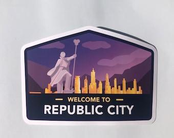 Republic City Sticker | Legend of Korra | Avatar the Last Airbender Travel Stickers | Waterproof Stickers | Laptop Decals | Korra Sticker