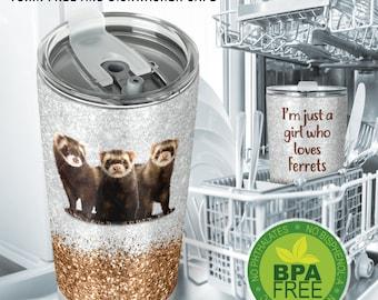 Pen Pewter ferret pp-39 Brooch drop hoop Holder For Glasses ID jewellery