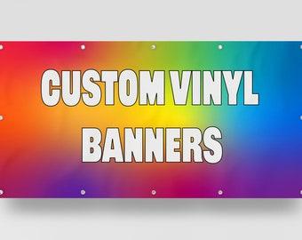 Custom Vinyl Banner, Full Color, Birthday Banners, Wedding Banners, Personalized Design, NextDigitalPrint