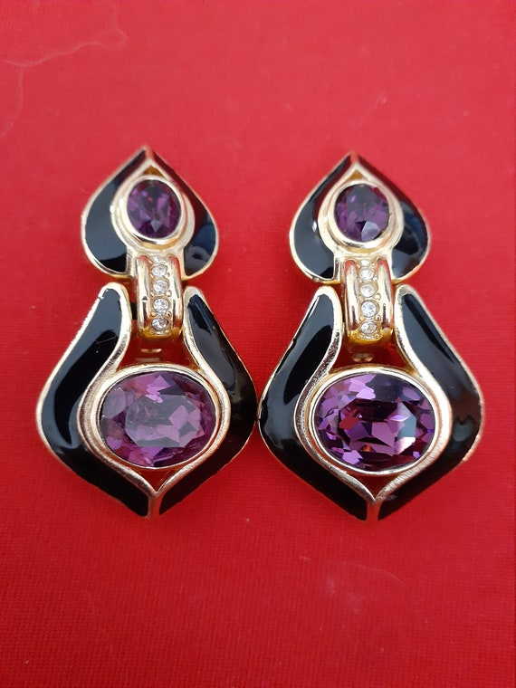Dior Vintage Clip on Dangle earrings