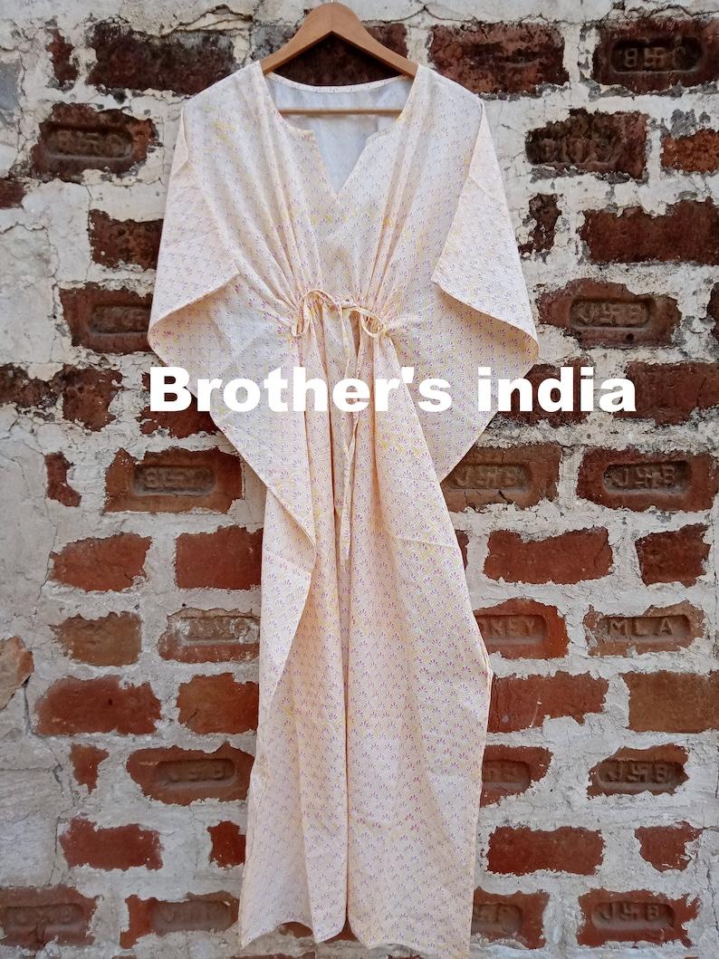 Long cotton dress Loose Dress Indian cotton kaftan Cotton kaftan Summer cotton kaftan Beach cover up dress Boho dress
