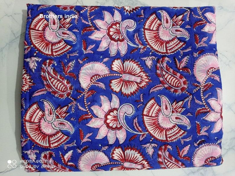 Handblock 100/%Cotton Fabric New Sanganeri Print Fabric Fabric By Yard Floral Print Cotton Dress Material Fabric