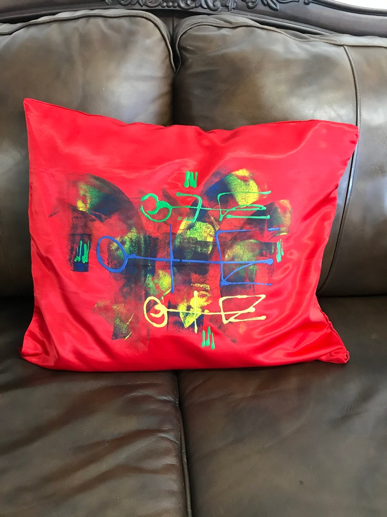 Hand Painted Decorative Silk Pillow Cases