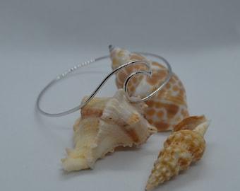 Wave Bangle Bracelet