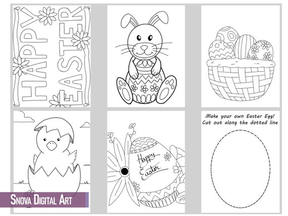 Easter Coloring Pages  Self-Care Crafts  Kids and Adult