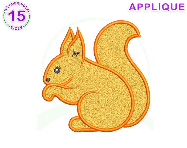 Squirrel embroidery mini Squirrel design Squirrel applique embroidery file Squirrel embroidery Squirrel applique embroidery design