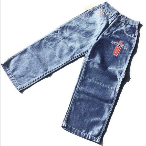 vintage 90s deadstock iridescent dada jeans