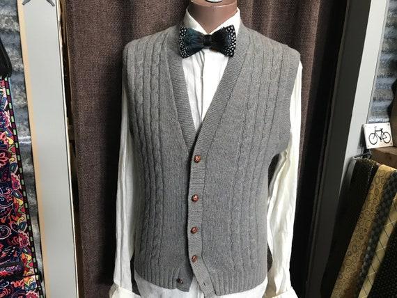 Vintage Jantzen Knit Vest Wool Sz XL - OOAK