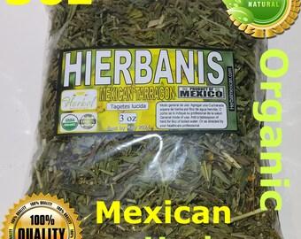 hierbanis,mexican tarragon,tegetes lucida, sweetscented/mint marigold,yerbaniz hierba/te 3oz, santa maria hierba !