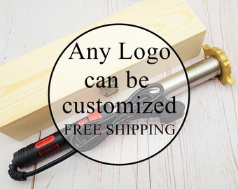 Custom branding iron for woodworkers / Custom wood burning stamp with branding iron for wood/ Wood branding iron custom