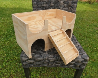 SALE!!! Guinea pig castle house shelter hide out 2tiered hideaway manor furniture exercise toy