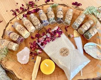 Smoke Complete Set *THE MAGICAL TRANSFORMATION*/ 12 x Incense Himalaya Crystal White Sage/Birthday Christmas Gift