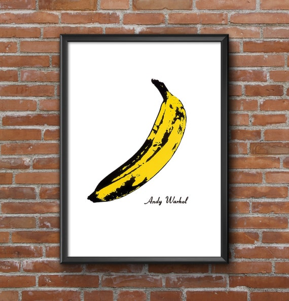 Andy Warhol Banana Velvet Underground Poster Print A4 A3 Etsy