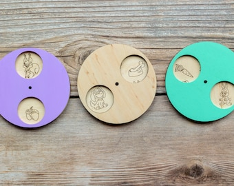 Busy board detail, Wooden Rotating Circle with cartoons, Busy board, Craft kit,  Busy board idea, Busy Board Parts, Busy board elements
