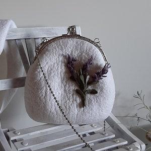 1950s Beatnik Boho Hand Woven Wool Alpaca Fringed Drawstring Bag