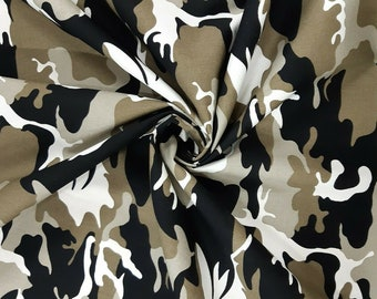 Printed Polycotton Soldier Fabric Military Camouflage Army Urban 45 inches Wide