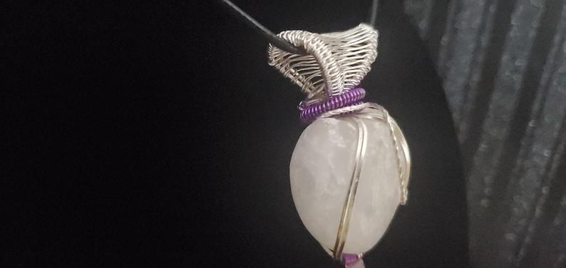 Selenite Necklace Selenite Crystal Meditation Spiritual Healer Wire Wrapped Selenite Pendant Selenite Satin Spar Crystal Heart Pendant