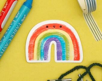 Rainbow Glossy Vinyl Sticker - Rainbow Sticker - Waterproof sticker