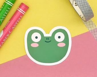 Froggy Glossy Vinyl Sticker - Frog Sticker