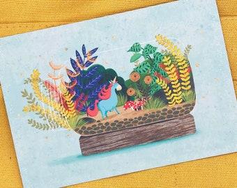 Magic in a Bottle Postcard - A6 Postcard - Unicorn