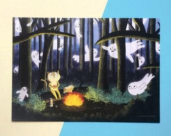 Ghostly Picnic A5 Art Print