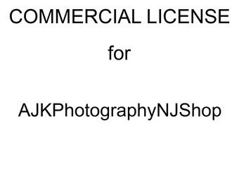Commercial License for AJKPhotographyNJShop