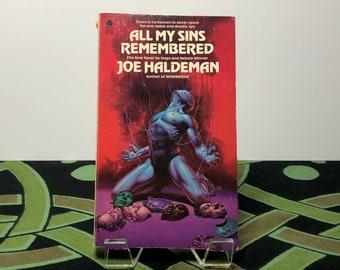 All My Sins Remembered (1978) - A Science Fiction Novel by Joe Haldeman - Vintage Paperback Book
