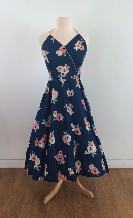 Vintage 1950's Swing Dress - Floral Rose Print - … - image 2