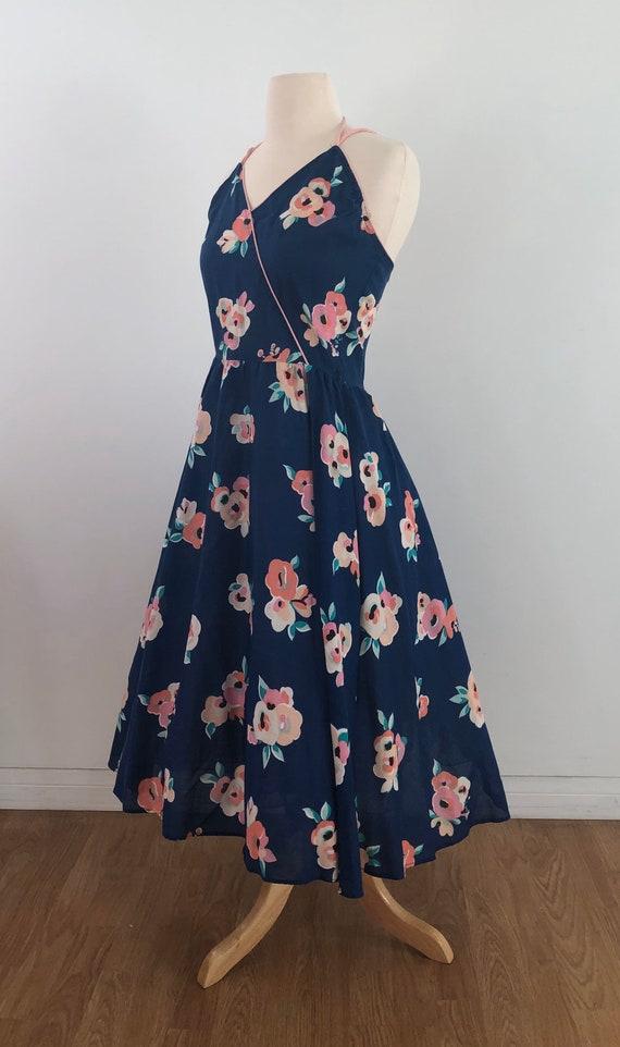 Vintage 1950's Swing Dress - Floral Rose Print - … - image 3