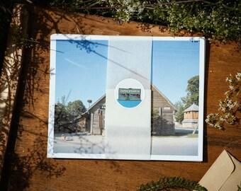 Laikinai Atidaryta local stores postcard set