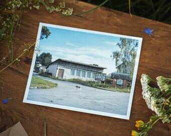 Pavoverė store postcard