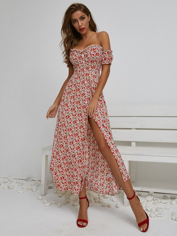 maxi ditsy floral dress