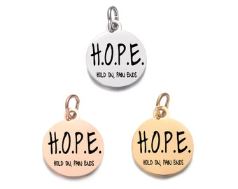 Wholesale Gifts Hope Charm Etched Heart Sale Jewelry Supplies Sterling Silver Engraved Hope Message Tag Personalized Tag
