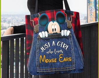 Custom Couture Personalized Mickey /& Mickey Mouse Wedding Tote Bag