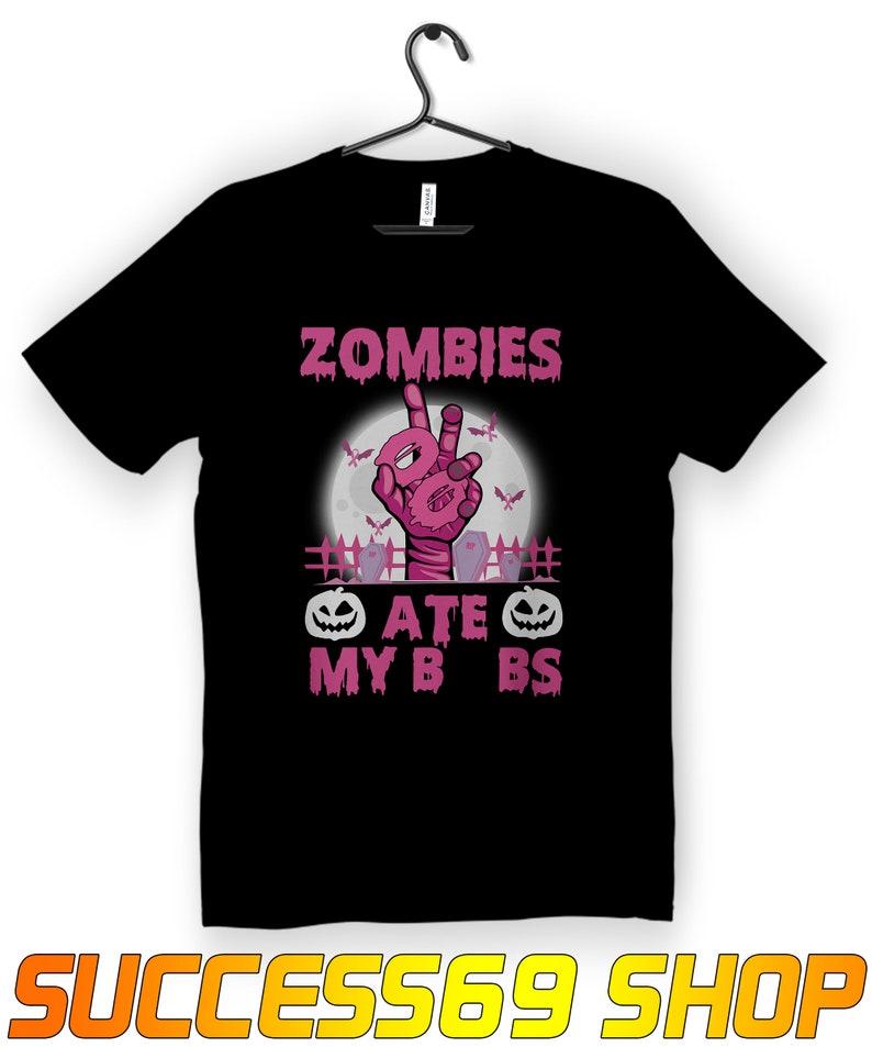 Zombies Breast Cancer Awareness Shirt Masswerks Store