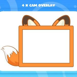 1920x1080px Full HD Autumn Fox Theme 3 x Cute Full Screen Fox Twitch Overlay Orange Twitch Stream Screens
