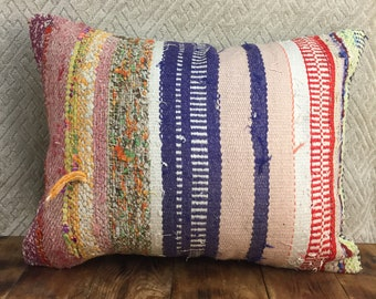 20x20 inch rug pillow cover handmade white pink vintage ethnic boho wool cushion throw rug case yellow 50x50cm handwoven flower pastel