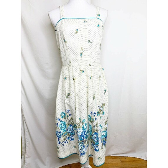 1950s Vintage Floral Sundress / Day Dress With Flo