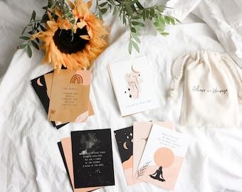 Self Love daily affirmation cards Set | Mini gift set|Mindfulness affirmations| Self Care cards set |  Women empowerment card