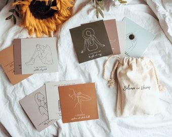 Women Empowerment Affirmation Cards, Women Positive Affirmation Cards, Self Love, Self Awareness, Mindfulness mini gift set