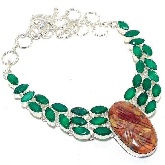 Citrine Gemstone 925 Sterling Silver Jewelry Bracelet Triplet Fire Opal
