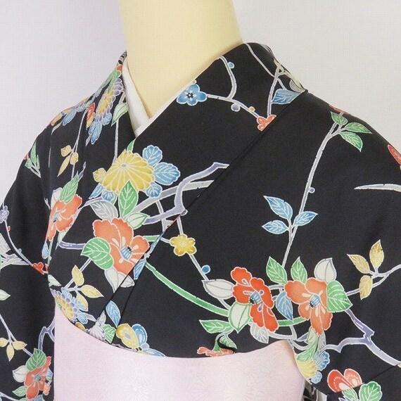 Auth Japanese Silk Kimono/ Kimono Robe/ Kimono Dre