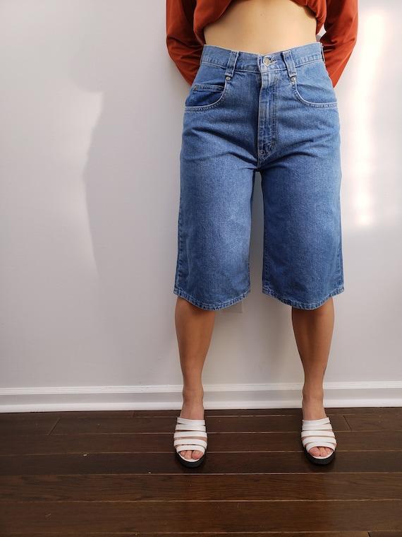 unreal 90s Lee Pipes skater raver denim jean short
