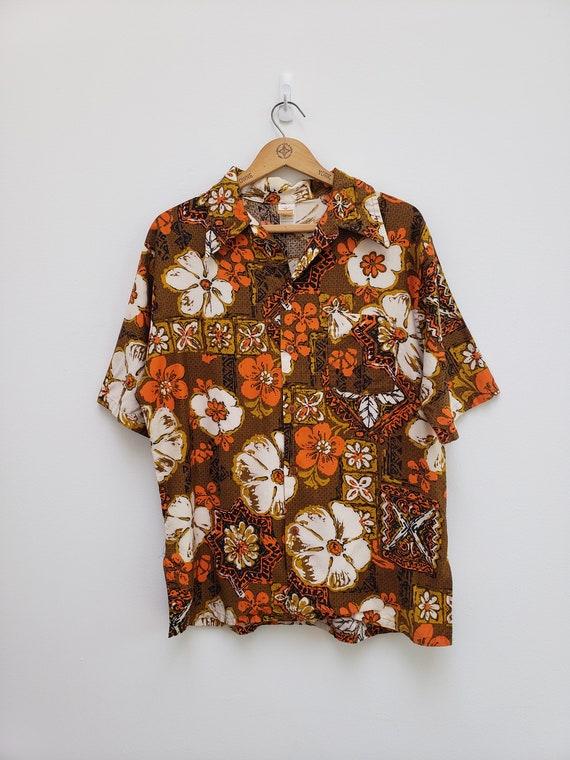 1970s jantzen men's hawaiian shirt rare
