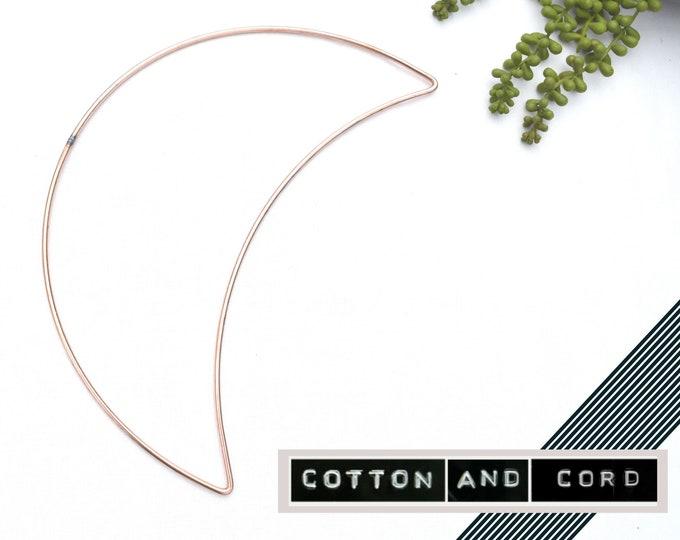 "Moon Shape for Macrame -  12"" inch   30cm - LARGE SHAPE  Metal Moon   Floristry Shape   Wire Shapes - Macrame Accessory   12"""