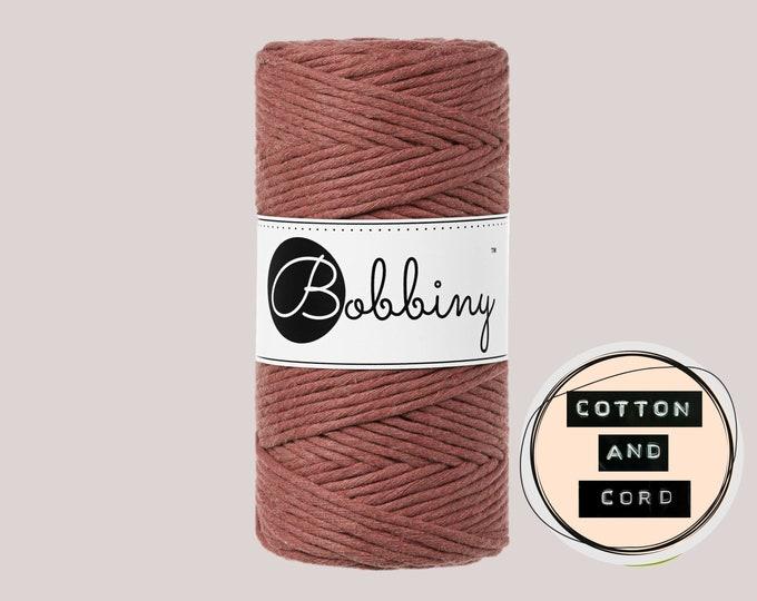 NEW - Bobbiny 3mm SUNSET | UK Stock | Regular Single Twist Cord -100% Recycled Cotton Cord | Rope | Macramé Cord| Macrame