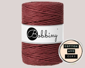 Bobbiny 5mm Wild Rose XXL Single Twist Cord -100% Recyled Cotton Cord | Rope | Macrame Cord | Oeko-Tex Standard 100 Fiber Art