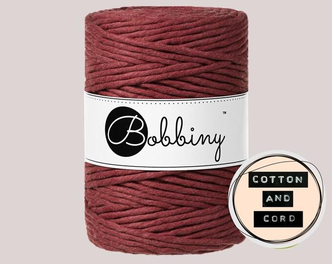 Bobbiny 5mm Wild Rose XXL Single Twist Cord -100% Recyled Cotton Cord   Rope   Macrame Cord   Oeko-Tex Standard 100 Fiber Art