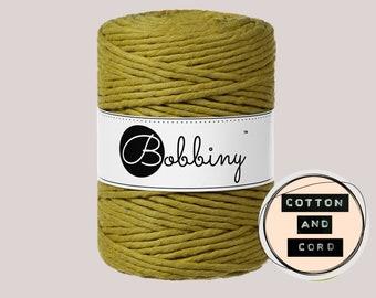 NEW Bobbiny 5mm** Kiwi** XXL Single Twist Cord -100% Recyled Cotton Cord | Rope | Macrame Cord | Oeko-Tex Standard 100 Fiber Art
