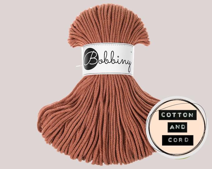 Bobbiny 3mm Terracotta Junior Cord  - 100% Recyled Cotton Cord   Rope   Macrame Cord   Yarn - Oeko-Tex Standard 100